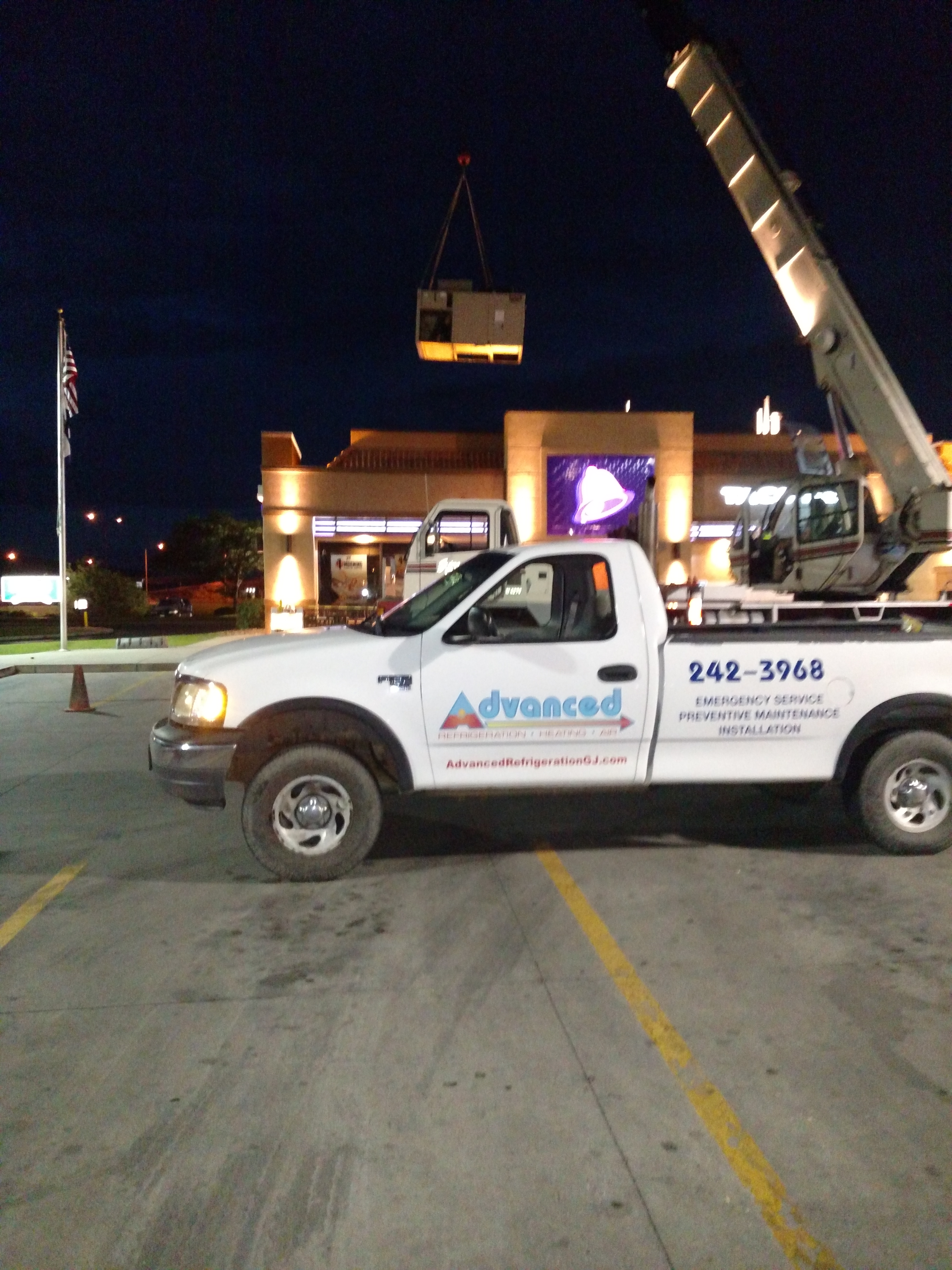 Rooftop Unit Replacement Taco Bell Mesa Mall