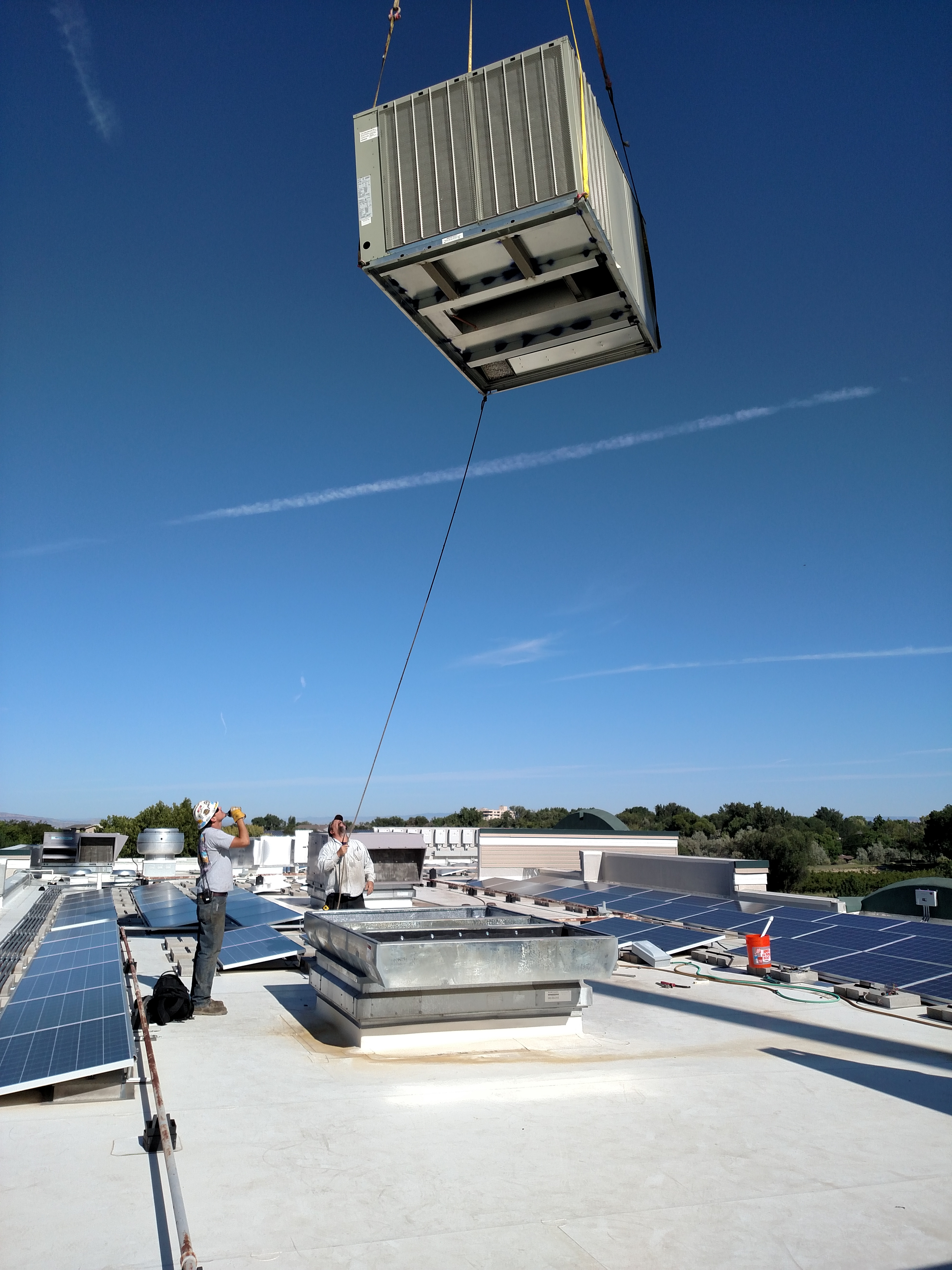 Hilltop Commons TRANE Rooftop Unit Install