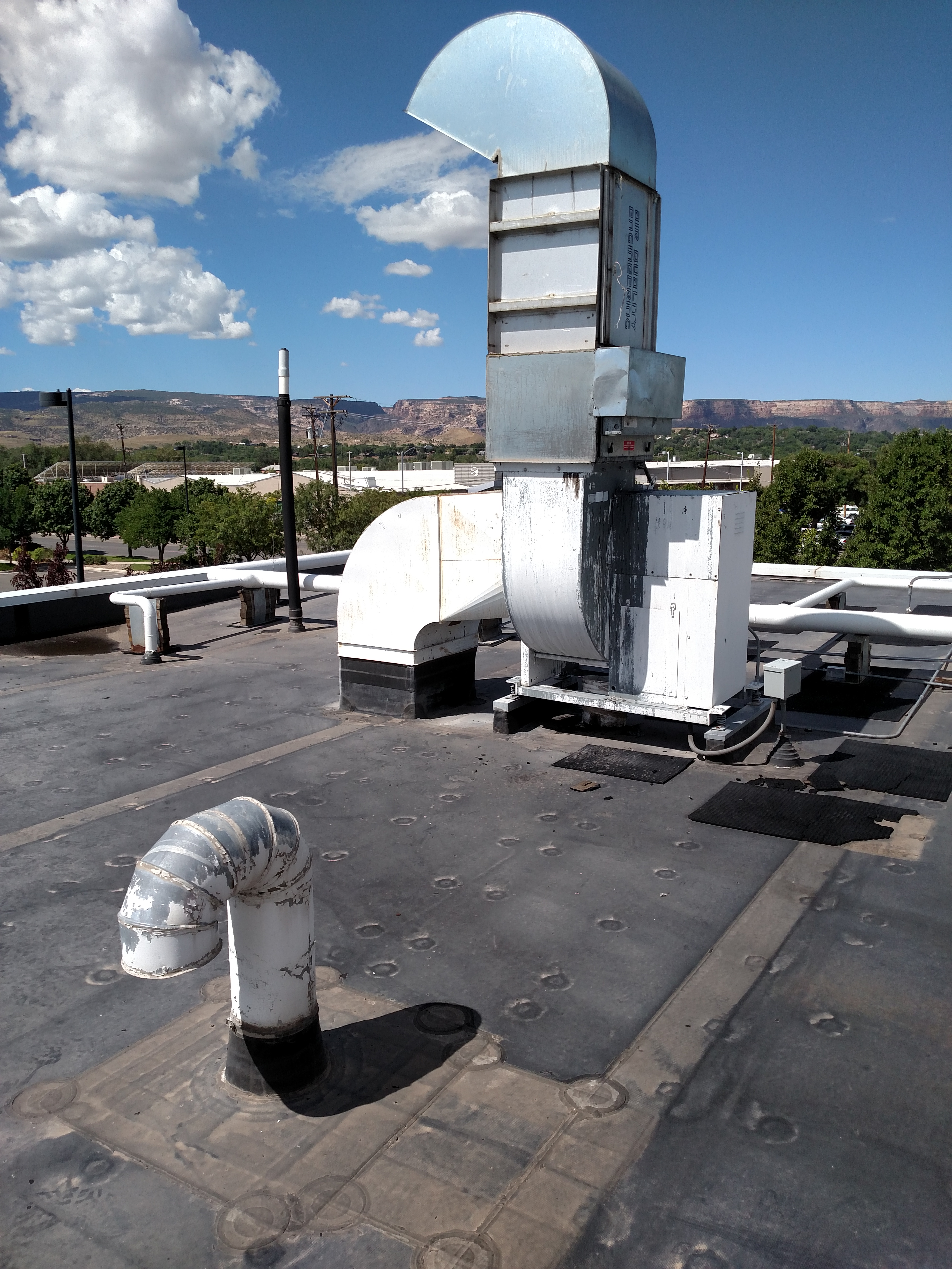 Two Rivers Convention Center - Old Grease Hood Extraction Exhaust Fan